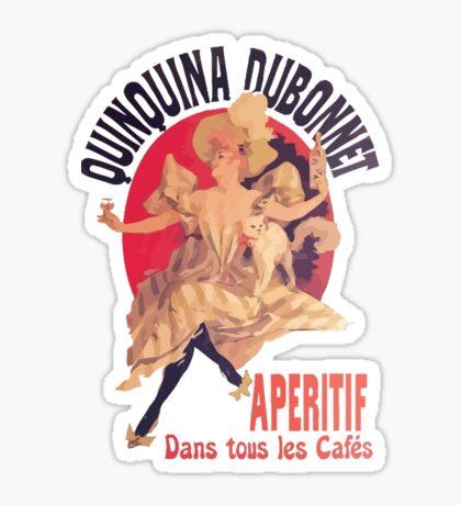 QuinQuina Dubonnet Aperitif  Dans Tous Les Cafes Sticker