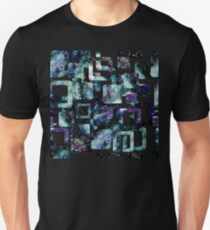 Watercolor Starry Sky in Squares Unisex T-Shirt