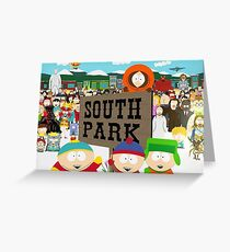 South Park Characters Greeting Card