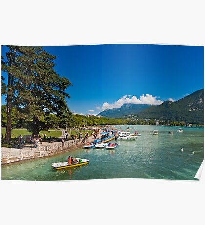 Lake Annecy in summertime Poster