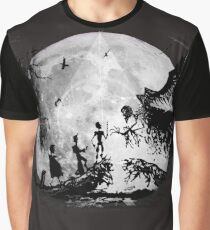 Think Deathly Hallows Moon Graphic T-Shirt