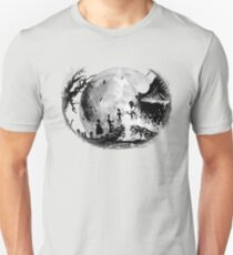 Think Deathly Hallows Moon T-Shirt