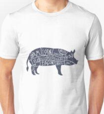 Hand Drawn Pork Illustration with cut scheme Unisex T-Shirt