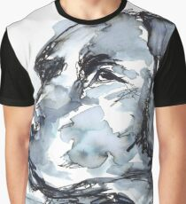 Labrador Retriever, Watercolor Portrait Sketch Graphic T-Shirt
