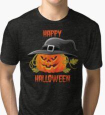 Pumpkin Happy Halloween Tri-blend T-Shirt