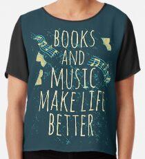 books and music make life better #1 Chiffon Top