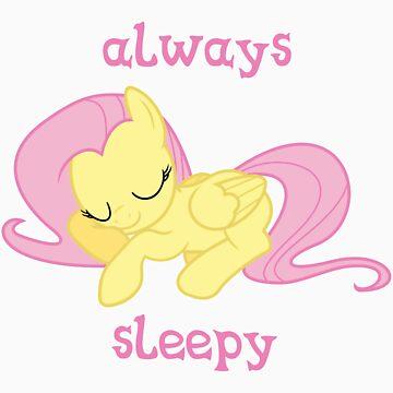 Fluttershy Always Sleepy by teiptr