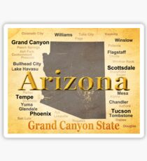 Aged Arizona State Pride Map Sticker