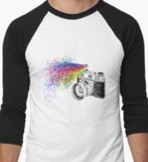 colour photo Men's Baseball ¾ T-Shirt