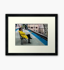 Waiting for the CTA Framed Print