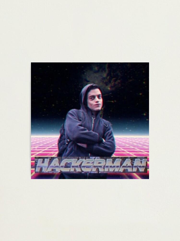 Alternate view of Hacker man Photographic Print