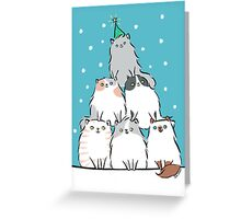 Kitty Cat Christmas Tree Greeting Card