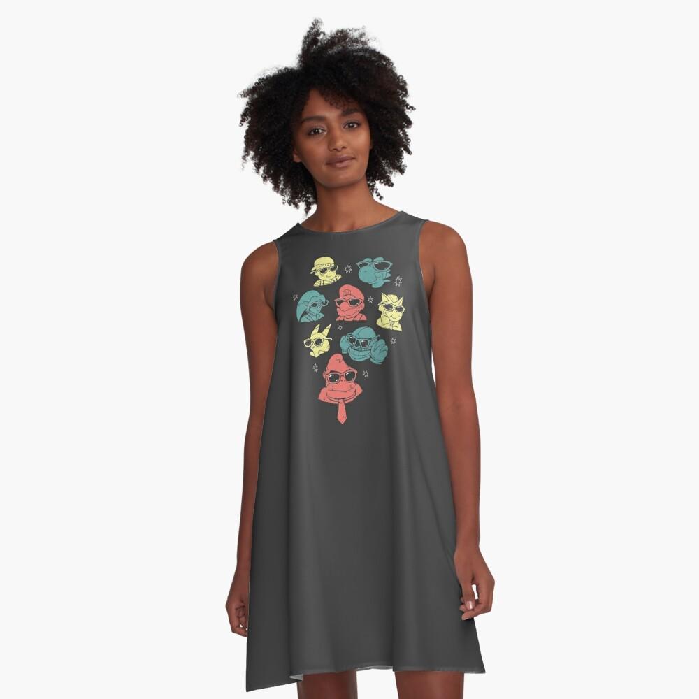 Super Smash Bros A-Line Dress