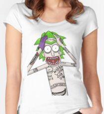 I'm just going to wubba lubba dub dub you real bad Women's Fitted Scoop T-Shirt