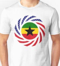 Ghanaian American Multinational Patriot Flag Series Slim Fit T-Shirt