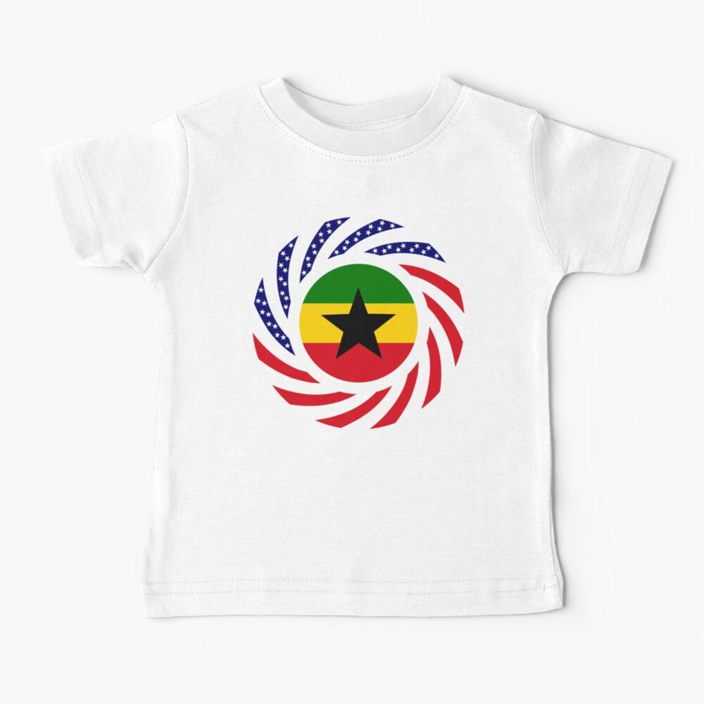 Ghanaian American Multinational Patriot Flag Series Baby T-Shirt