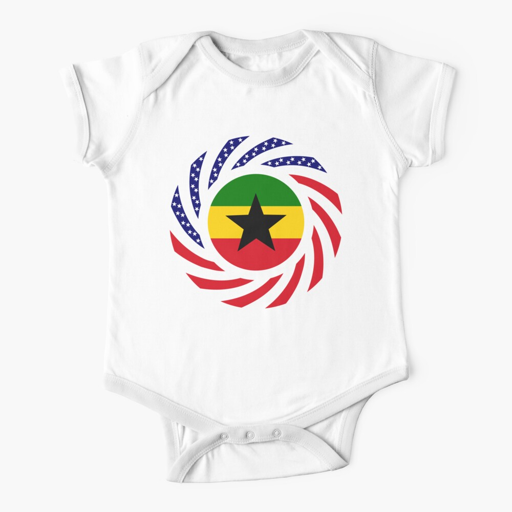 Ghanaian American Multinational Patriot Flag Series Baby One-Piece