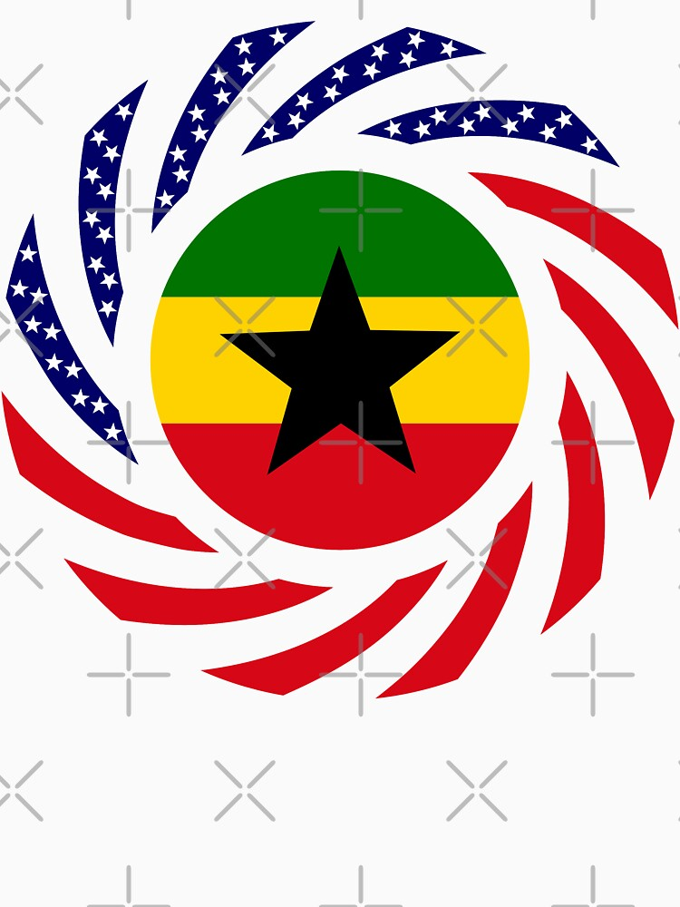 Ghanaian American Multinational Patriot Flag Series by carbonfibreme