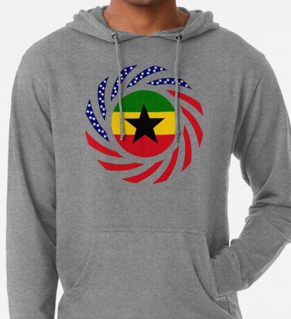 Ghanaian American Multinational Patriot Flag Series Lightweight Hoodie