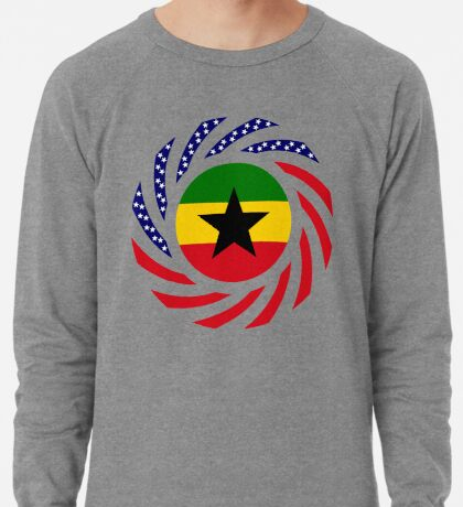 Ghanaian American Multinational Patriot Flag Series Lightweight Sweatshirt