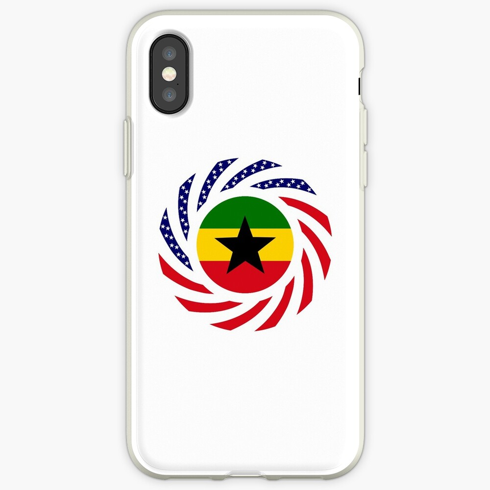 Ghanaian American Multinational Patriot Flag Series iPhone Case & Cover
