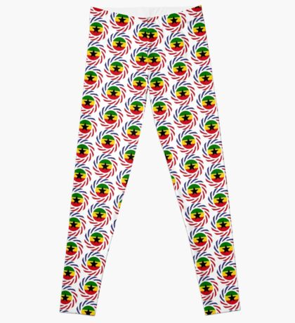 Ghanaian American Multinational Patriot Flag Series Leggings