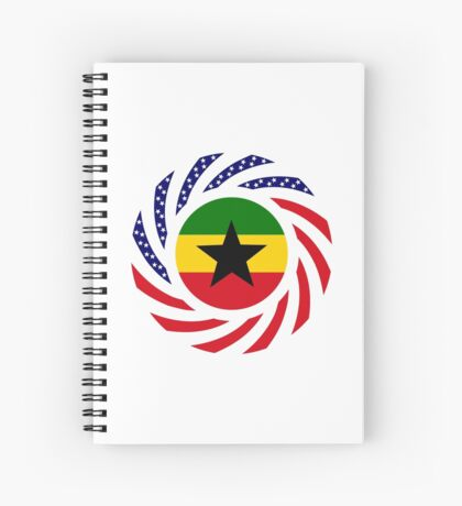 Ghanaian American Multinational Patriot Flag Series Spiral Notebook
