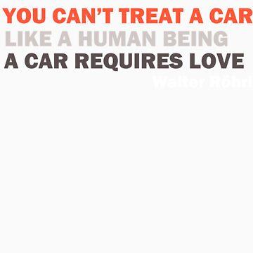 """Walter Röhrl - """"Un automóvil requiere amor ..."""" de Venusta"""
