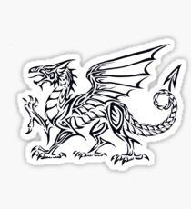 Tribal Dragon - Black Sticker