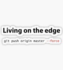 Living on the edge Sticker
