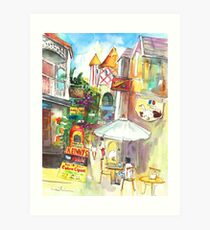 Street In St Marteen Art Print