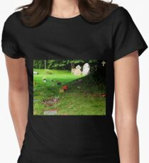 By the tree in Churchyard....... Uplyme Devon UK Womens Fitted T-Shirt