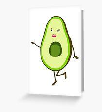Mrs Avocado  Greeting Card