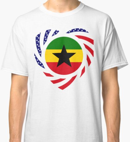 Ghanaian American Multinational Patriot Flag Series Classic T-Shirt