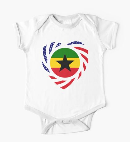 Ghanaian American Multinational Patriot Flag Series Kids Clothes