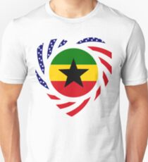 Ghanaian American Multinational Patriot Flag Series 2.0 Unisex T-Shirt