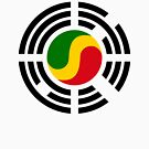 Korean Congolese Multinational Patriot Flag Series by Carbon-Fibre Media
