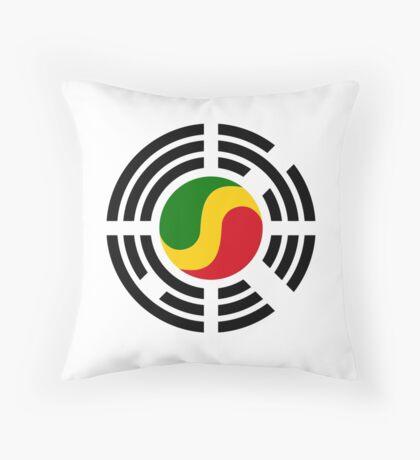 Korean Congolese Multinational Patriot Flag Series Throw Pillow