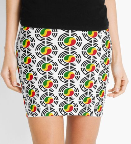 Korean Congolese Multinational Patriot Flag Series Mini Skirt