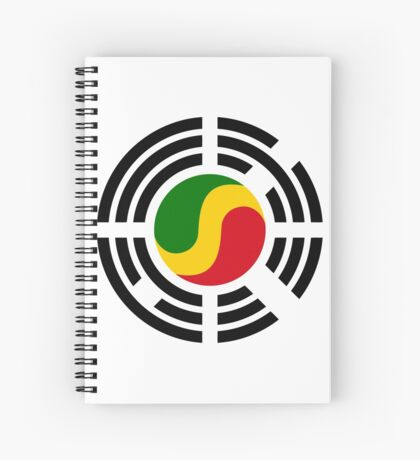 Korean Congolese Multinational Patriot Flag Series Spiral Notebook
