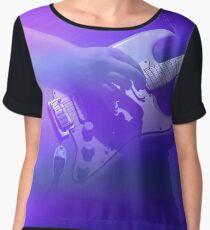 Purple Guitarist  Women's Chiffon Top