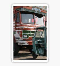 tata truck and rickshaw Sticker