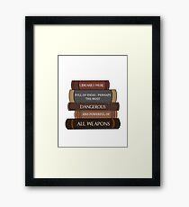 Libraries were full of ideas... Framed Print