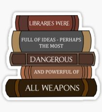 Libraries were full of ideas... Sticker