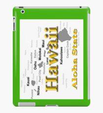 Hawaii State Pride Map Silhouette  iPad Case/Skin