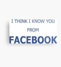 Cool Funny Facebook Text Metal Print