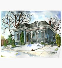 A Cozy Winter Cottage Poster