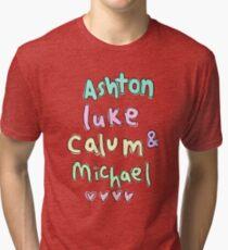 Ashton Luke Calum & Michael  Tri-blend T-Shirt