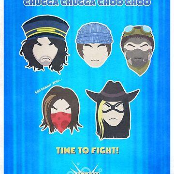Chugga Chugga Choo Choo Time to Fight! by qlaxx