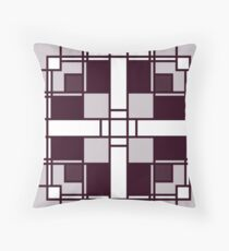 Neoplasticism art deco pattern in pinkish gray grey Throw Pillow